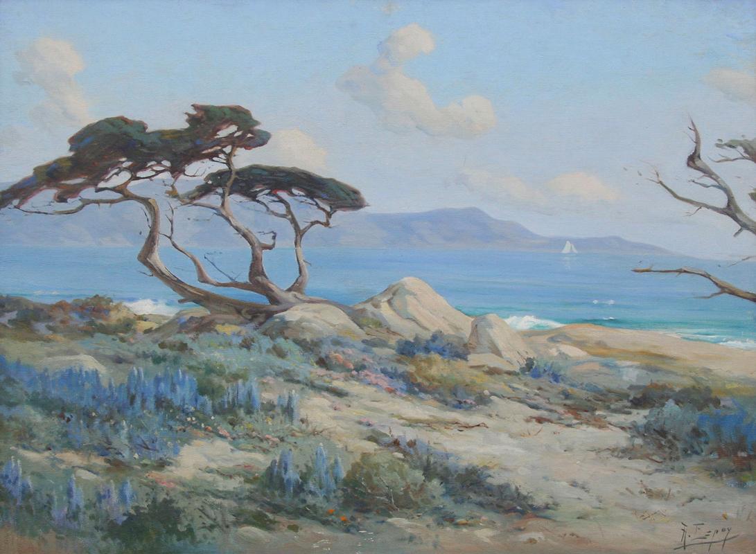 Angel Espoy painting