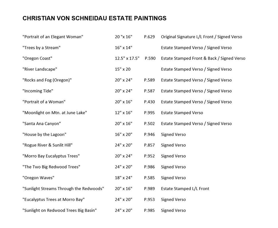 christian-von-schneidau-paintings-list
