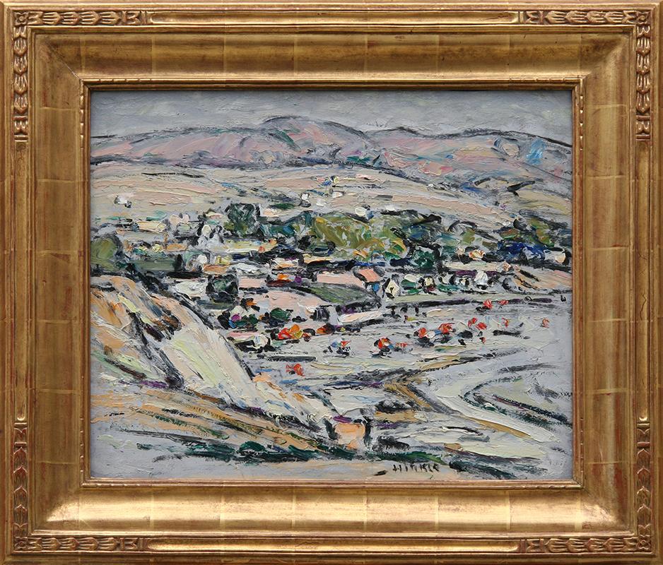 clarence-hinkle-laguna-village-framed