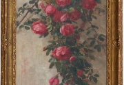 Edith White Roses Painting