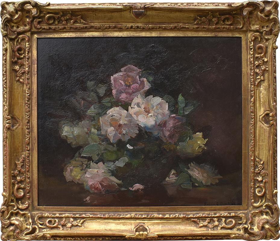 franz-bischoff-roses-framed