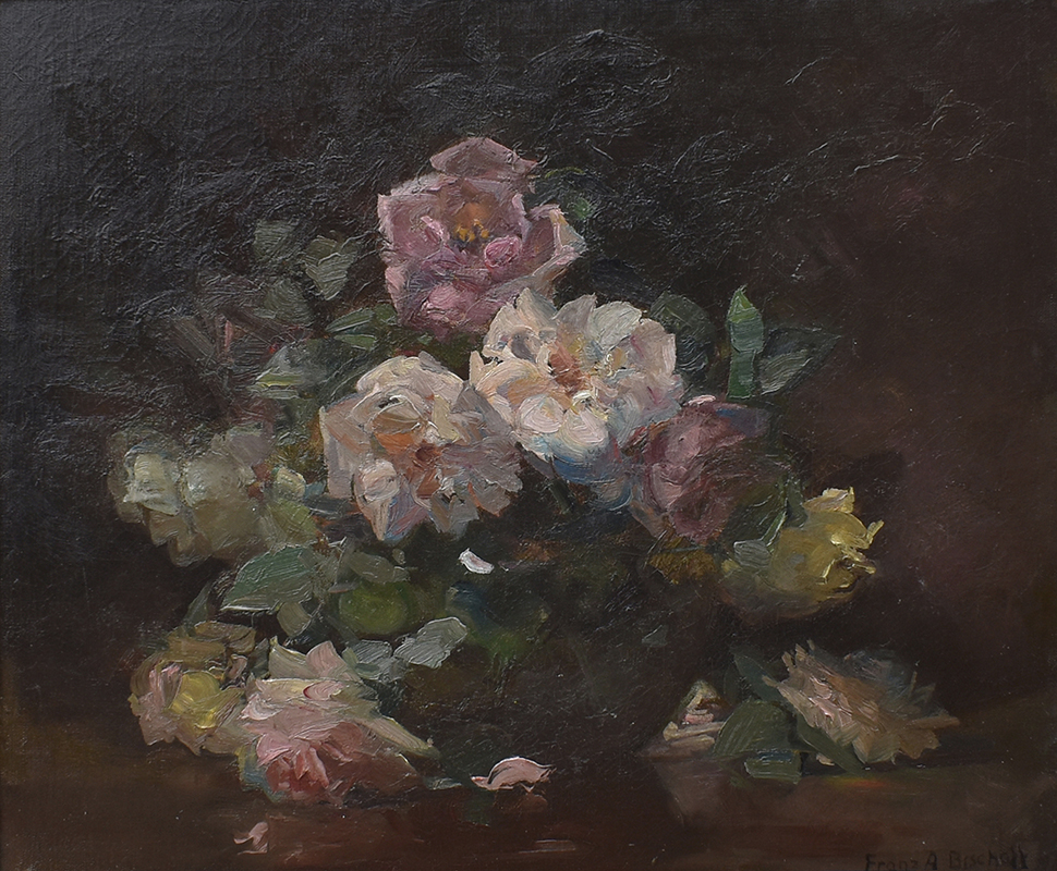 franz-bischoff-roses-painting