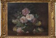 Franz Bischoff Roses Painting Framed