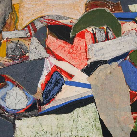 James Grant 'Collage Red Yellow and Green'