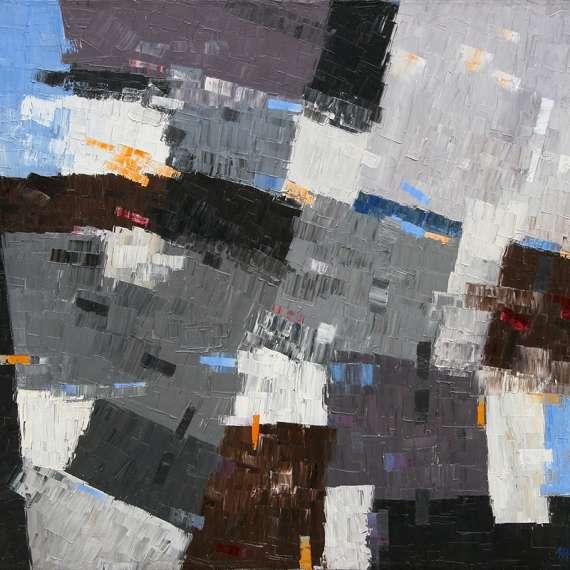 James McCray 'Blue Gray Abstract'