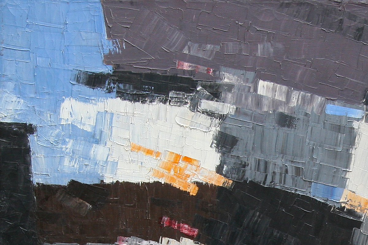 James McCray abstract painting close up