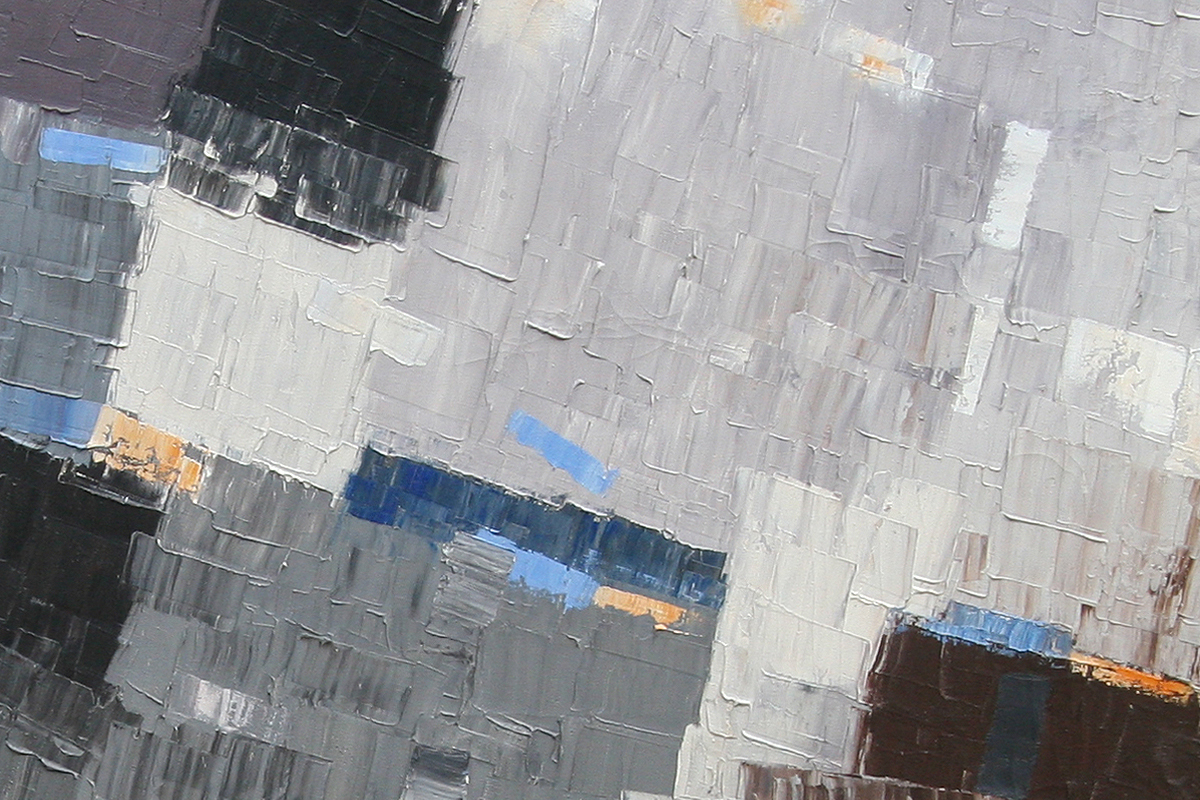 James McCray painting close up