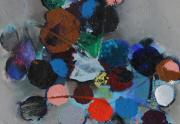 John Saccaro Starclusters Painting Close up