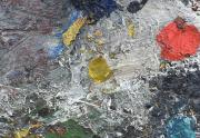 John Saccaro Painting Close Up