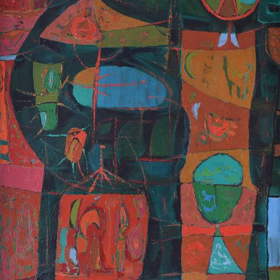 """Joseph Fiore """"Untitled Abstract' 1949"""