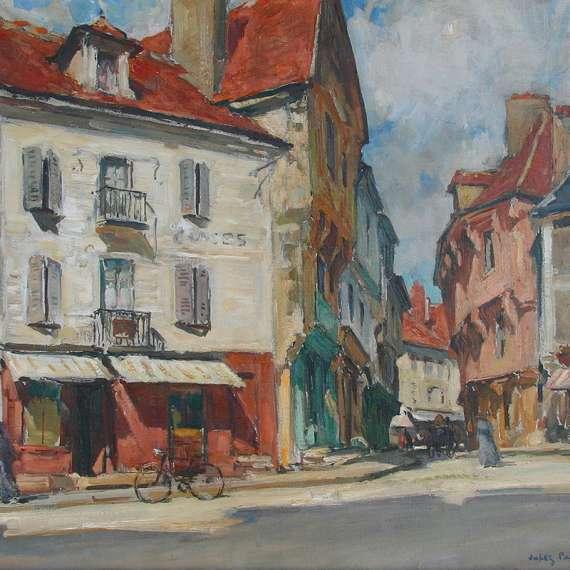 Jules Pages 'Place de l'Eglise a Saumur'