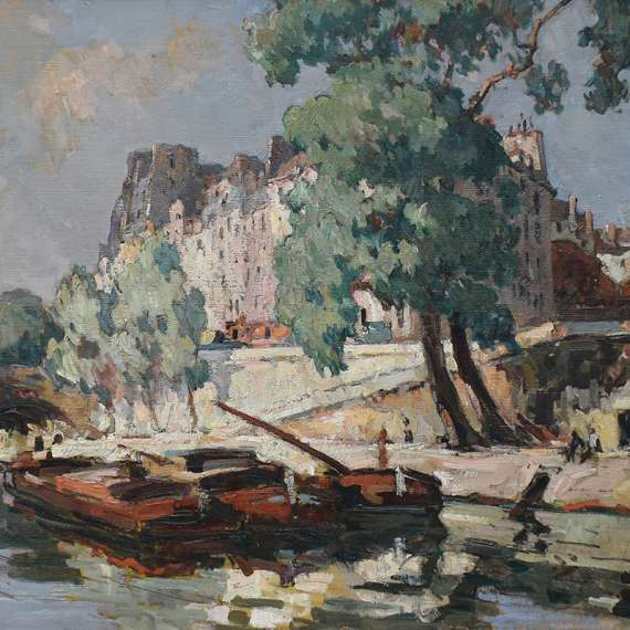 Jules Pages 'View of Ile St. Louis'