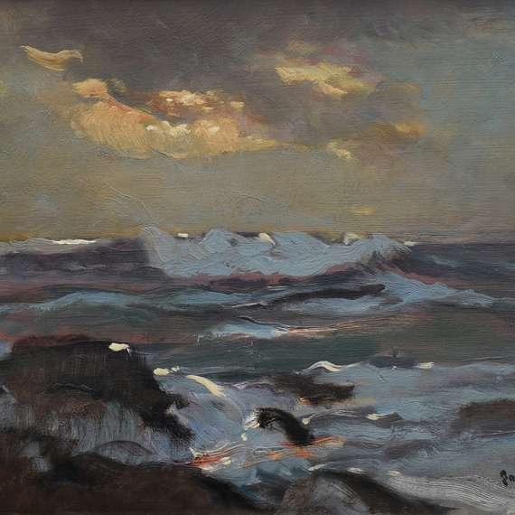 Paul Dougherty 'Moonlit Surf'