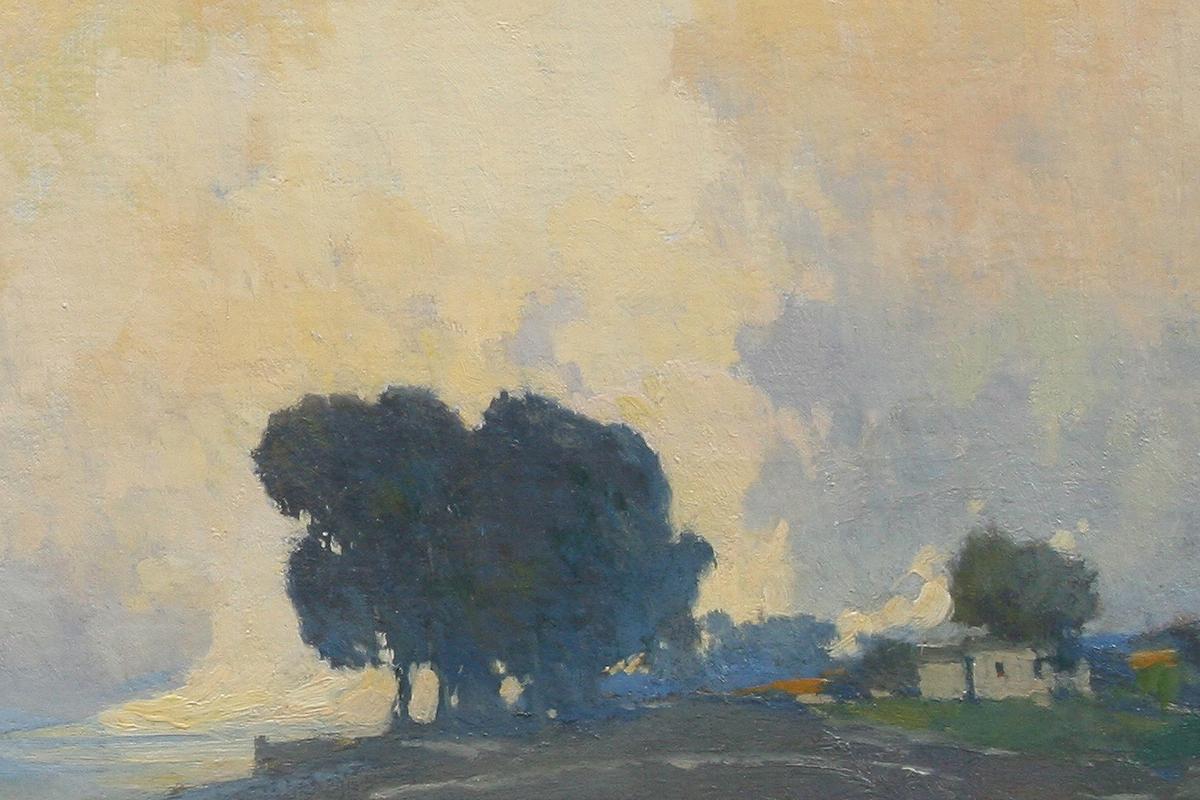 Arthur Mathews painting closeup