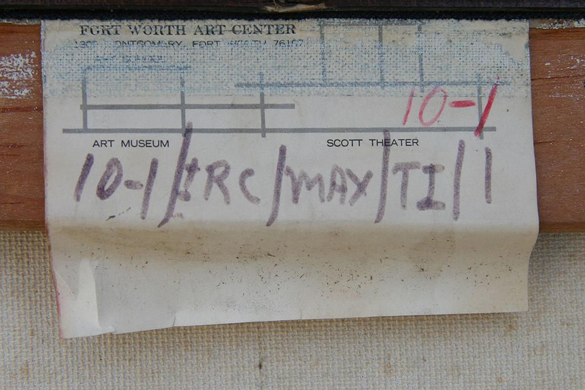 Tom Ide Painting Back Label