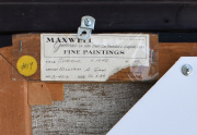 William Gaw Painting Back Label