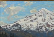 William Wendt Painting Closeup